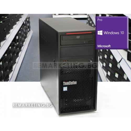 Работна станция Lenovo ThinkStation P520c с инсталиран Windows 10 Pro